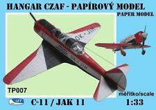 LET C-11 (Jak-11) paper model 1/33