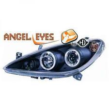 Scheinwerfer Set für Peugeot 307 01-05 Klarglas/Schwarz Angel Eyes