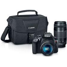 Canon DSLR Camera Bundle, EOS Rebel T6  w 18-55mm, 75-300mm Lenses & Camera Case