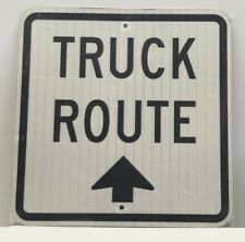 """Truck Route -Reflective -Aluminum Sign 18""""X18"""""""