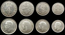 More details for george v 1919 full maundy set - fourpence, threepence, twopence, penny