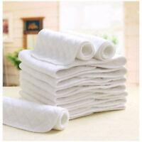 USA 10 PCS 60 PCS Reusable Baby Cloth Diaper Nappy Liners insert 3 Layers Cotton