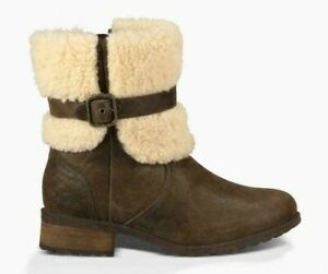 UGG® Blayre Sheepskin Suede Boots with Buckle BNIB Designer Women Footwear Shoes