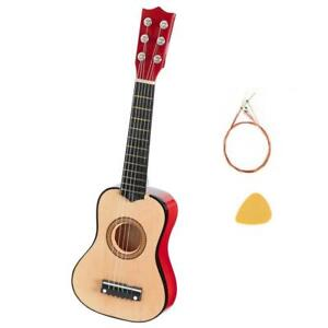 """New Kids Child 21"""" Acoustic Guitar 6 Strings Beginner Gift With Pick & String"""