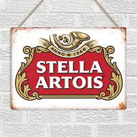 STELLA ARTOIS Metal Wall Sign Plaque Beer Vintage Retro Bar Pub Man Cave Garage