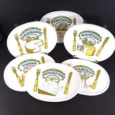 Set of 6 Cheese Plates Estello Made in France Different Cheese Types RARE EUC!