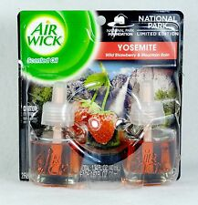 2 REFILLS Air Wick YOSEMITE Strawberry Mountain Rain Oil Plug In Refill airwick