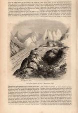 PAVILLON DU GLACIER DE L AAR SUISSE SCHWEIZ SWITZERLAND PRESS ARTICLE 1847 PRINT