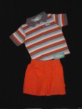 NWT Gymboree Boys CONSTRUCTION AHEAD Stripe Shirt & Orange Shorts Set 12-18 M