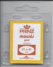 Package of 40 Prinz CLEAR Mounts 31 x 41
