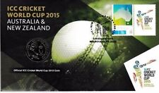 2015 CRICKET WORLD CUP PNC - AUSTRALIA AND NEW ZEALAND - UNC AUSTRALIAN 20 CENT