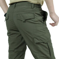 Waterproof Tactical Work Cargo Pants Mens Combat Quick Dry Lightweight Outdoor