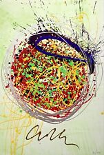 Confetti Blast (Mixed Media Lithograph & Acrylic), Limited Edition, Dale Chihuly