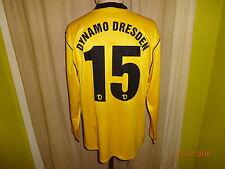 "DINAMO Dresda NIKE MANICA LUNGA u23 Matchworn Trikot 2005/06 ""grani"" + N. 15 Taglia M"