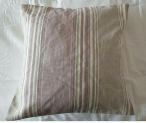 """16"""" Laura Ashley Seymour Stripe Amethyst fabric cushion cover"""