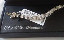 Sterling Silver   1/4 carat t.w.   Sterling Silver diamond, tennis bracelet