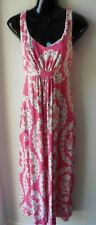 BODEN PINK & WHITE MAXI JERSEY DRESS SIZE 8 R  R57