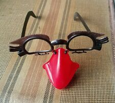 Vintage disguise glasses with RARE red nose & mustache dimestore groucho