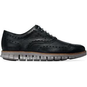 Cole Haan Mens Zerogrand Navy Leather Oxfords Shoes 11.5 Medium (D) BHFO 0471