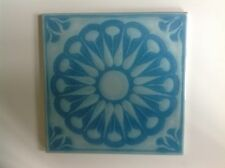 70er Jahre Kachel Pop-Art-Design blume, blau, vintagetile STEULER