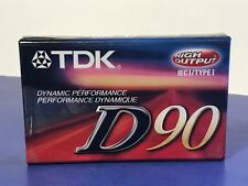 VINTAGE TDK BLANK CASSETTE TAPE HIGH OUTPUT SEALED NEW D90 DYNAMIC 90 MINUTES I