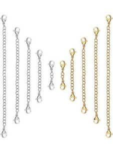 Silver Gold stainless steel Clipon chain extender extension necklace bracelet UK