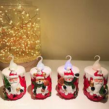 4PCS Christmas Santa Claus Snowman Reindeer Multicolored LED Light Desk Decor