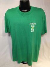 Vintage 80s Jameson Irish Whiskey Get the Real Irish Spirit T-Shirt Men Size XL