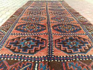 "Rare Antique Wool Pile Inscribed Dated 1917 Nagorno-Karabahk Runner 4'5""×11'5"""