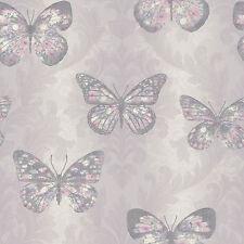 Nuevo Arthouse Midsummer Brezo mariposa con Purpurina Papel Pintado-661204