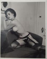 1960's Georgeous Vintage Female Amateur Busty Brunette Nude Girl 8x10 B&W Photo