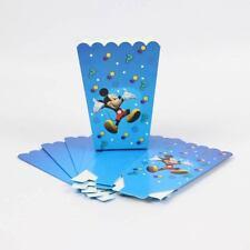 6 x Mickey Mouse Blue Kids Popcorn Sweet Box Party Happy Birthday
