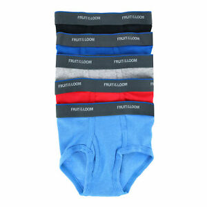 New Fruit of the Loom Toddler Boy's 5-Pack Solid Brief Underwear