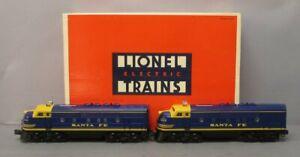 Lionel 6-18117 Santa Fe Blue/Yellow F3 AA Diesel Set EX/Box