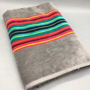 Pendleton Spa Bath Beach Towel Serape Stripe GRAY Pink Teal Blue Large Oversized