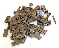 LEGO Dark Tan Bricks Mixed Bulk Lot 100+ Pieces GOOD VARIETY Parts Plates Tiles