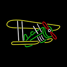 "New Float Plane Seaplane Airplane Neon Light Sign 24""x20"" Lamp Bar Beer"