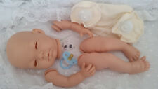 """REBORN BABY DOLL KIT """"PIPPA""""withEYES &LASHES +20in DISK JOINTED BODY+BLUE DUMMY"""