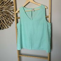 Now Size 16 XL Green Cotton Women's Tops Blouse Tank Kmart