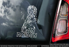 Iron Maiden - Car Window Sticker - Killer Eddie - Heavy Metal Sign TYP4