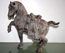 """10"""" VINTAGE REPRODUCTION ?? CHINESE TANG * FREE STANDING PARADE HORSE SCULPTURE"""