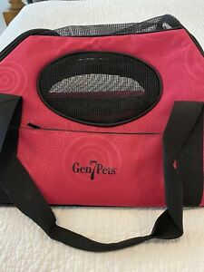 NWOT Gen7Pets Carry Me Pet Carrier for Dogs & Cats Rasberry Sorbet 16x12x9