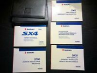 2008 Suzuki SX4 Owners Manual With Case OEM Free shipping