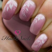 Lily White Nail Art Nails Water Transfers Decals Wraps Salon Quality Y003