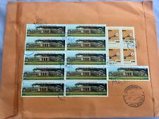 2016 Burma(Myanmar) #385(11),#343(4) on large Registered Cover to Thailand  *d