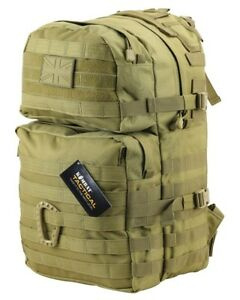 British Army Tactical Combat Rucksack Day Bergen Molle Pack Desert Sand 40 L New