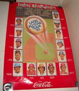 ROLLED 1985 COCA COLA MLB LATIN ALL STAR TEAM BASEBALL POSTER ROD CAREW