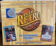 2012-13 Upper Deck Fleer Retro Basketball Hobby Box - 6 Autos -Jordan? LeBron?