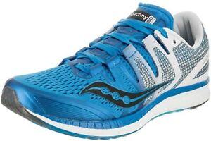 Saucony Men's Liberty ISO Running Shoes, Blue/White/Black, 8 D(M) US