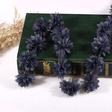 0,9 m Vintage Bleu Roi 3D Fleur Garniture En Dentelle Fabric Mariée Mariage Robe